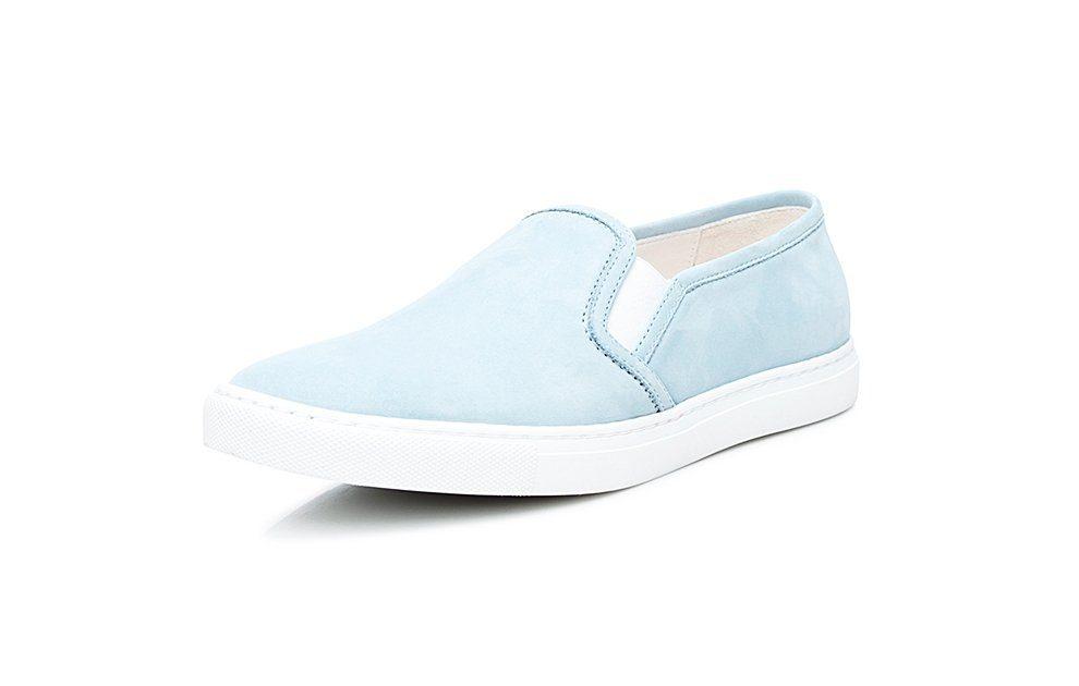 SHOEPASSION No 22 WS Sneaker, 100 % italienische Handarbeit online kaufen  hellblau-hellbraun