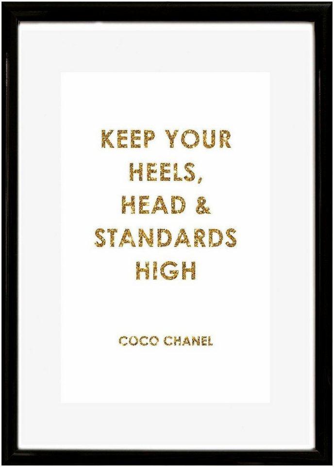 Home affaire Rahmenbild »Spruch: Keep your heels, …«, 30/40 cm ...