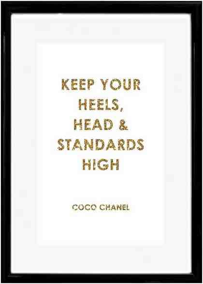 Home affaire Rahmenbild »Spruch: Keep your heels, …«, 30/40 cm
