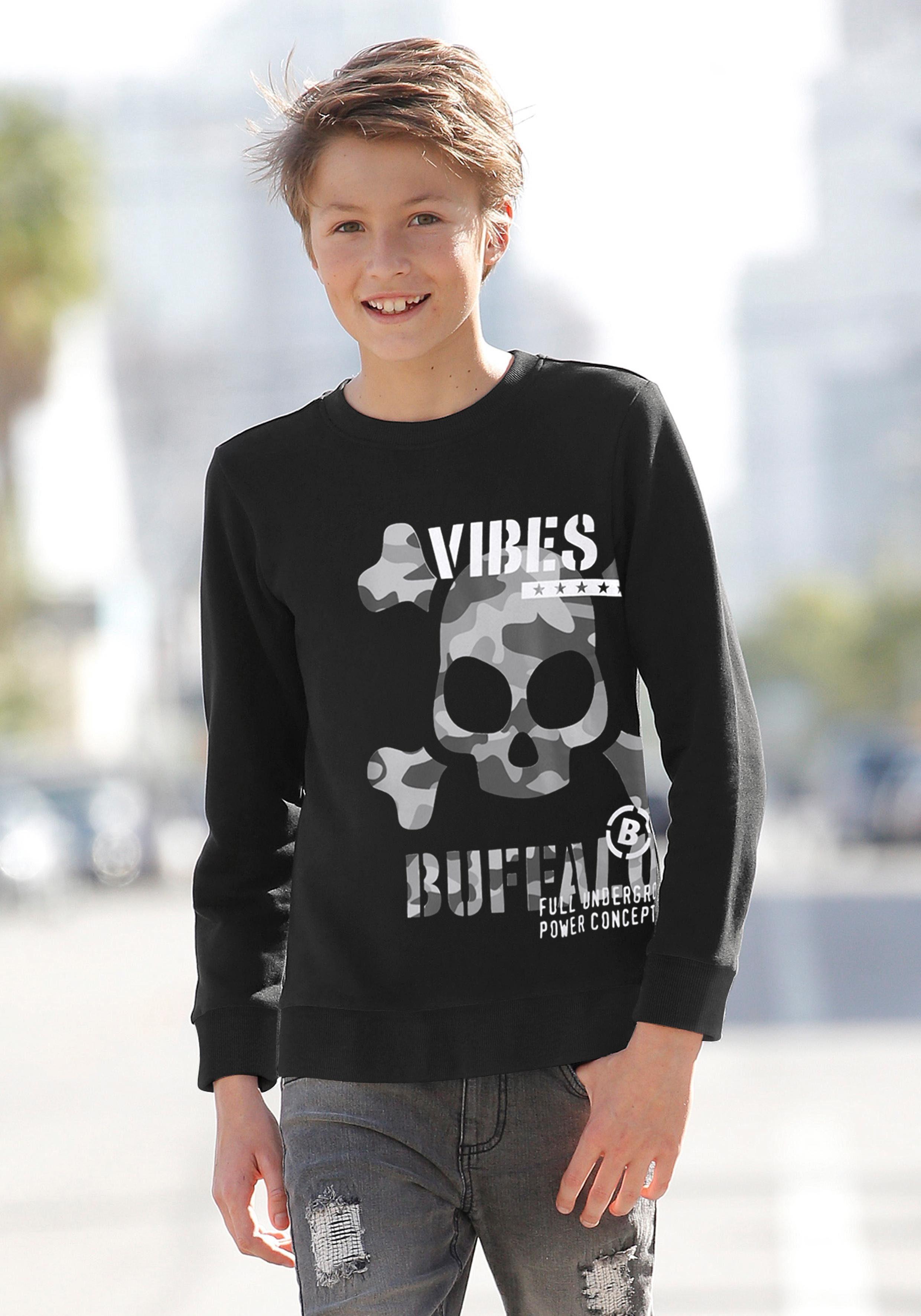 Buffalo Sweatshirt mit großem, seitlichem Druck