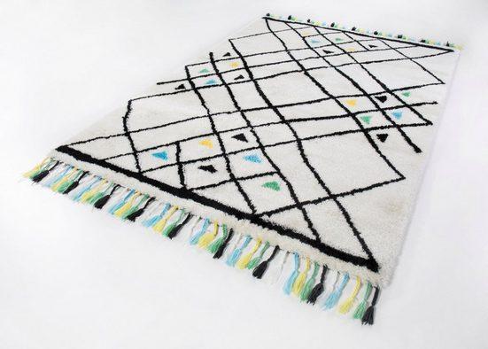 Hochflor-Teppich »Colorati«, LUXOR living, rechteckig, Höhe 35 mm, Besonders weich durch Microfaser