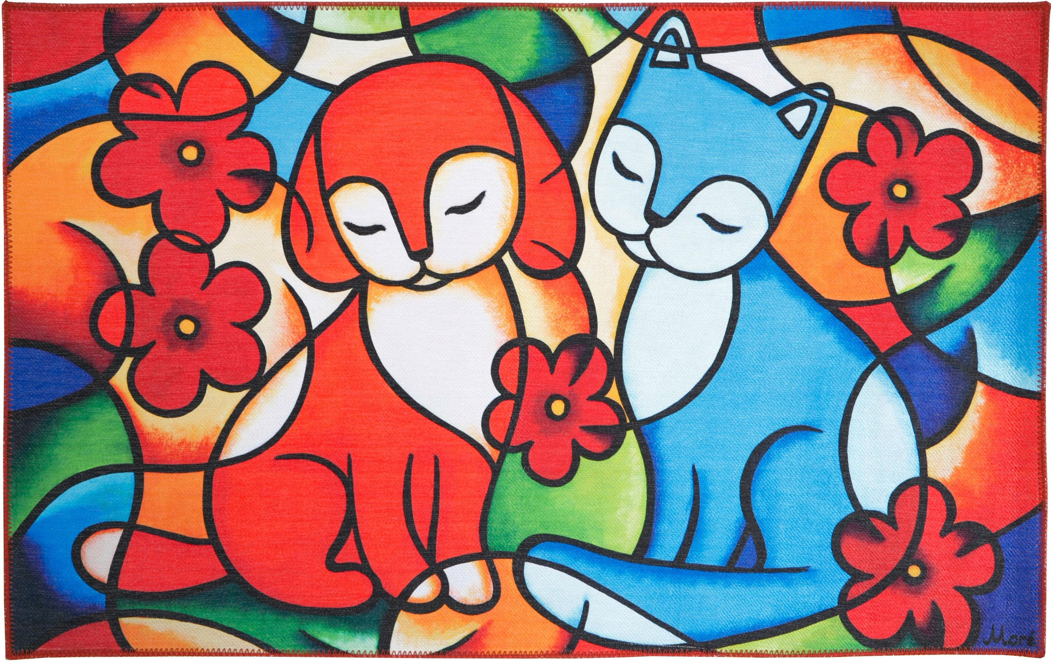 Teppich »Freundschaft«, LUXOR living, rechteckig, Höhe 10 mm, Art of Kids