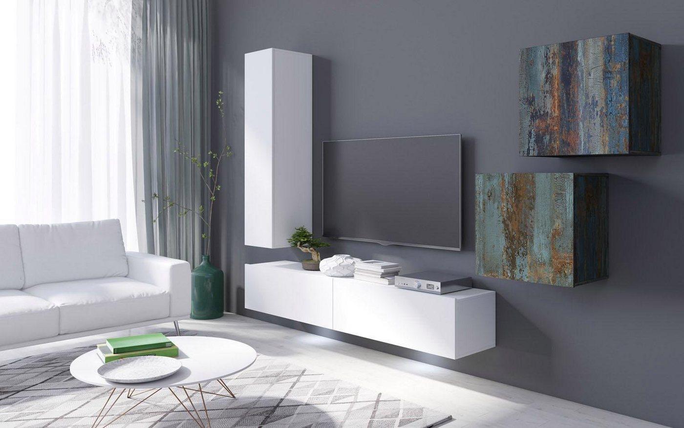 Wohnwände - TRENDMANUFAKTUR Wohnwand »Vento«, (Set, 5 tlg)  - Onlineshop OTTO