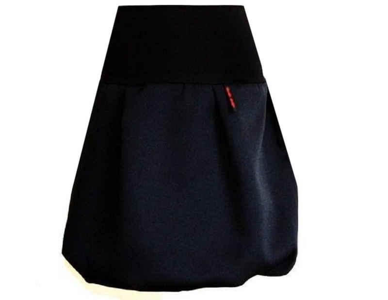 dunkle design Ballonrock »51cm Grau Schwarz Ecru« Elastischer Bund