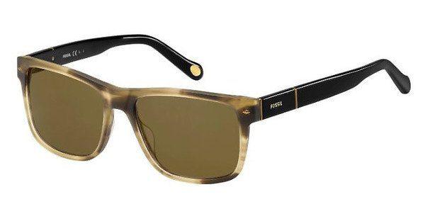 Fossil Herren Sonnenbrille » FOS 2050/S«, braun, 0DS/OW - braun/braun
