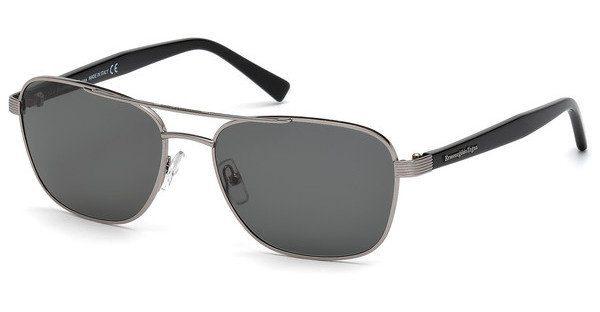 Ermenegildo Zegna Herren Sonnenbrille » EZ0068«, grau, 14A - grau/grau