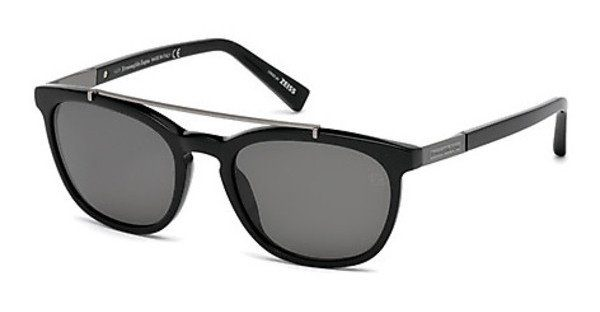 Ermenegildo Zegna Herren Sonnenbrille » EZ0044«, schwarz, 01V - schwarz/blau