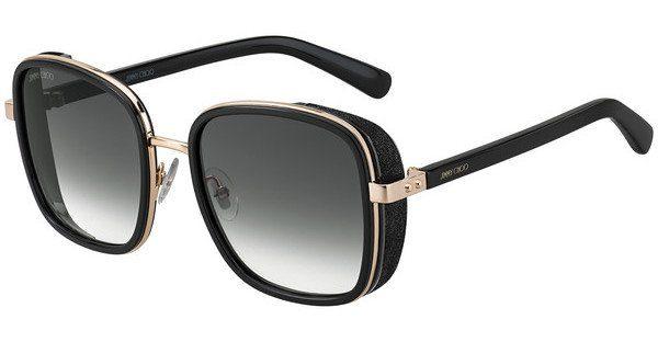 JIMMY CHOO Jimmy Choo Damen Sonnenbrille » ELVA/S«, schwarz, 2M2/9O - schwarz/grau