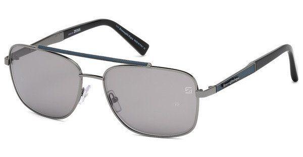 Ermenegildo Zegna Herren Sonnenbrille » EZ0036«, grau, 12D - grau/grau