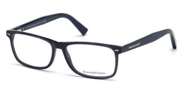 Ermenegildo Zegna Herren Brille » EZ5056«, blau, 090 - blau
