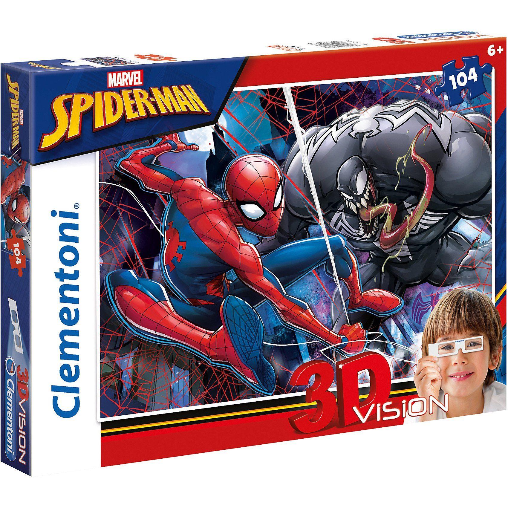 Clementoni® 3D Vision Puzzle 104 Teile - Spiderman