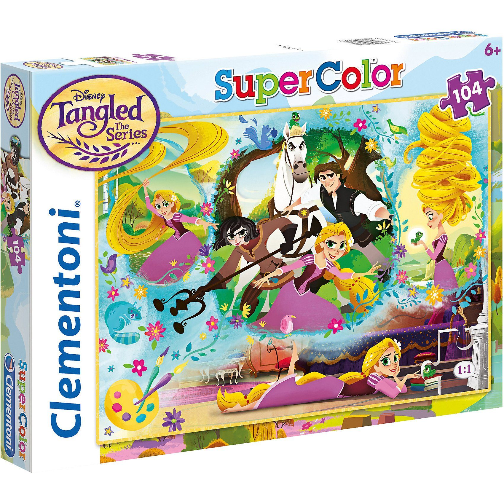 Clementoni® Puzzle 104 Teile - Rapunzel
