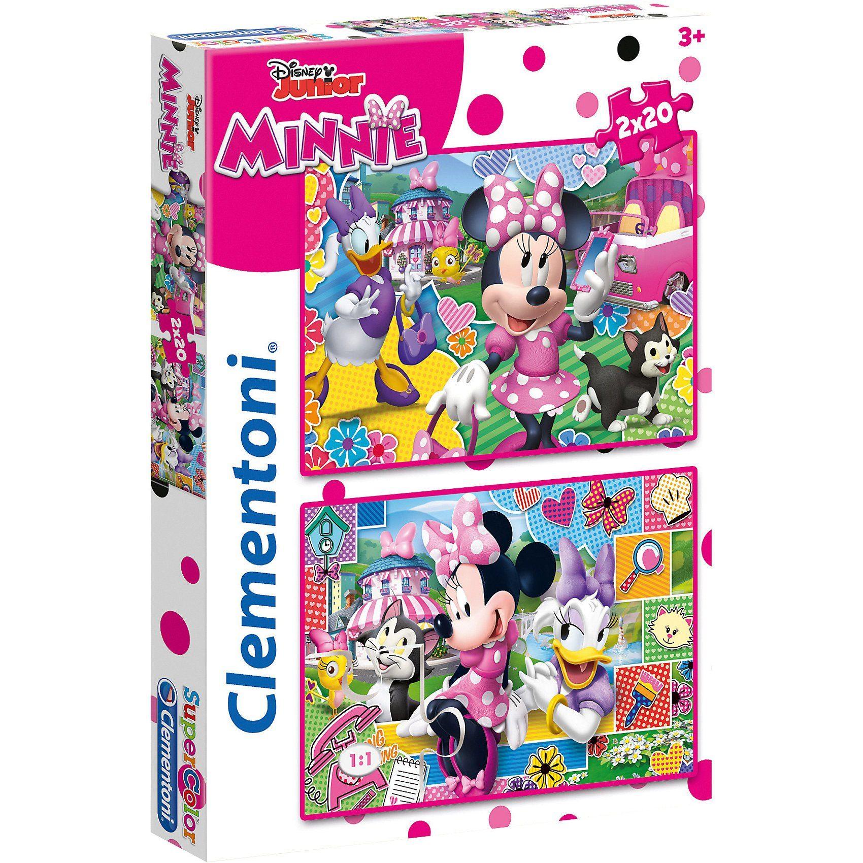 Clementoni® Puzzle 2 x 20 Teile - Minnie Mouse
