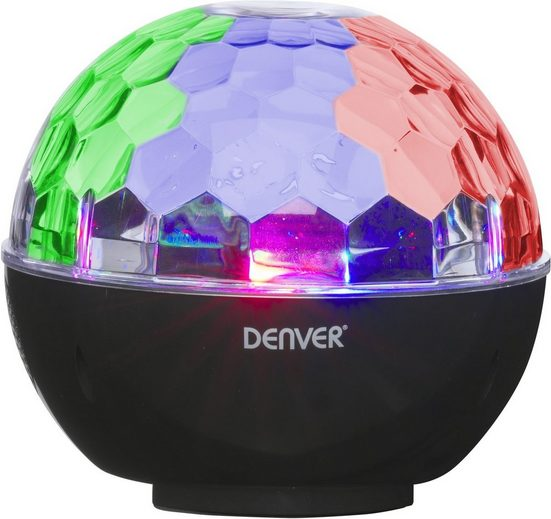 Denver Lautsprecher »BTL-65, Bluetooth speaker, disco light, AUX«