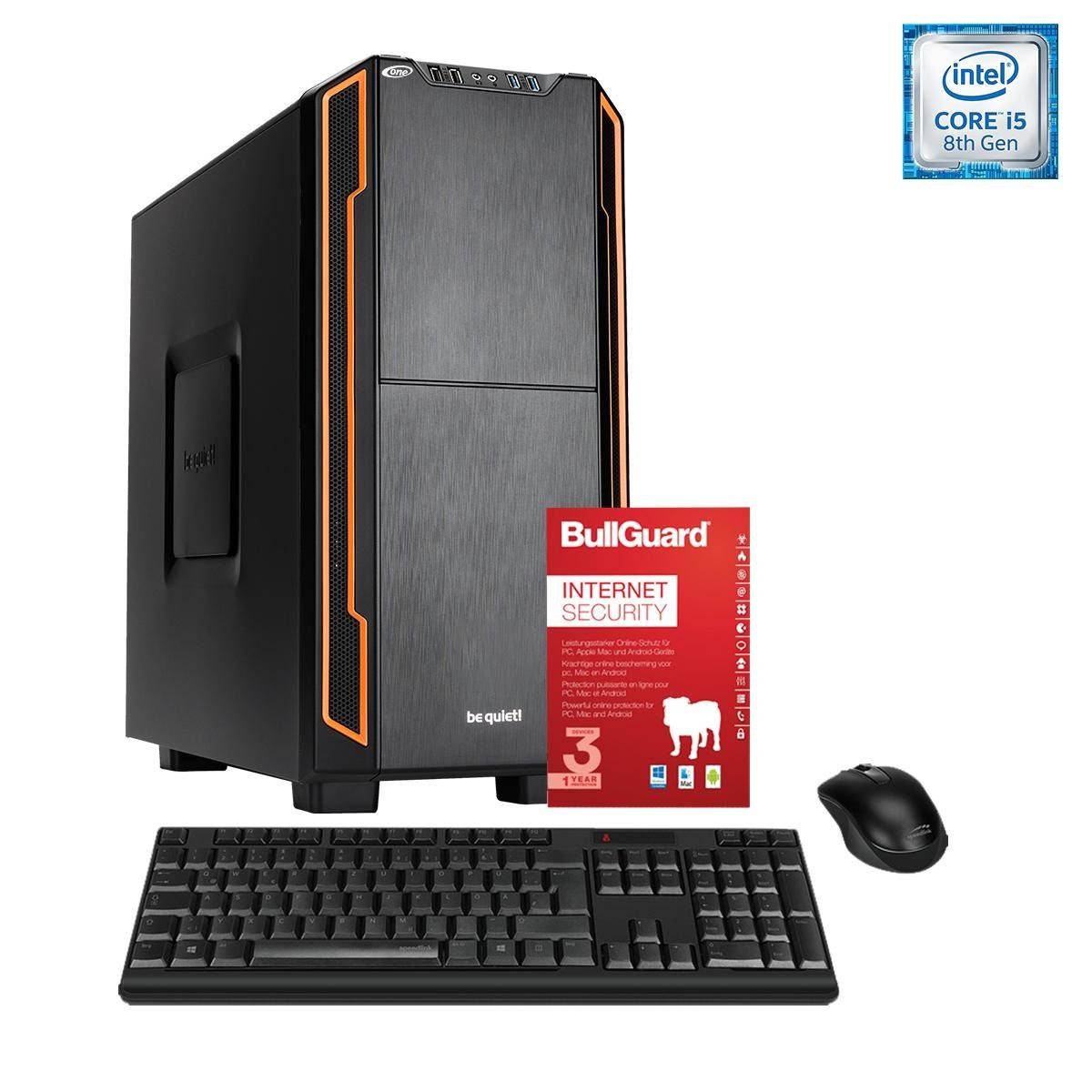 ONE PC, Core i5-8400, GeForce GT 1030, 8GB DDR4 RAM »Silent PC 44054«