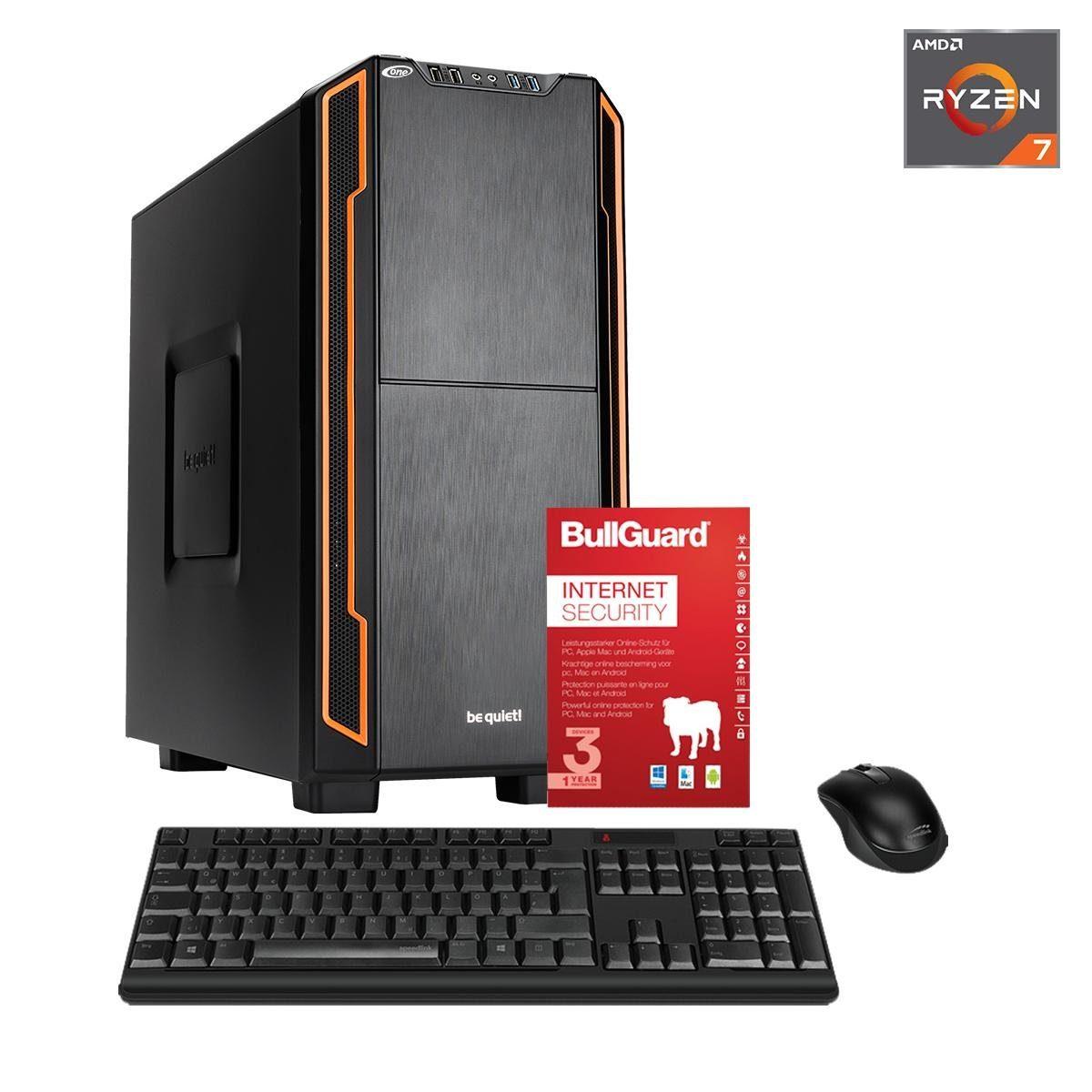 ONE PC, Ryzen 7 1700, GeForce GT 1030, 8GB DDR4 SDRAM »Silent PC 44059«