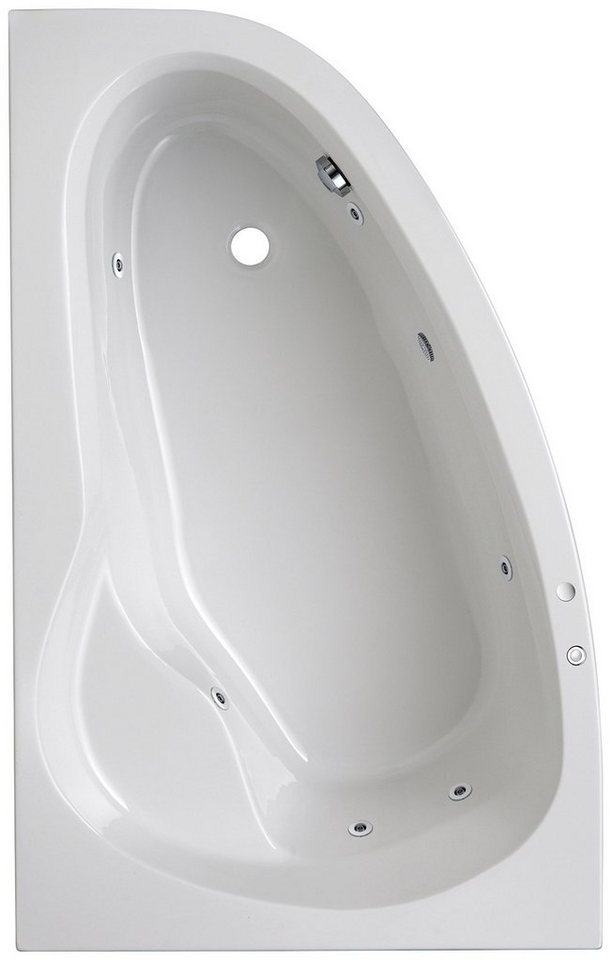 OTTOFOND Eckwanne »Loredana«, B/T/H in cm: 175/110/56, mit Whirlpool-System | Bad > Badewannen & Whirlpools > Eckbadewannen | OTTOFOND