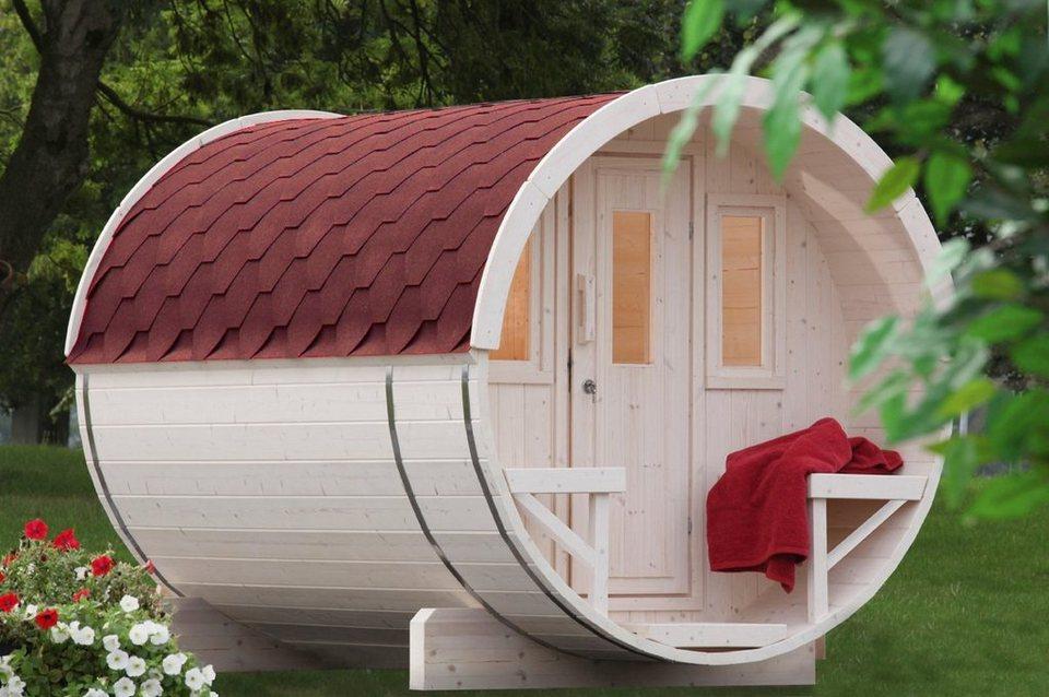 wolff fasssauna 280 205 280 210 cm rote schindeln ohne ofen online kaufen otto. Black Bedroom Furniture Sets. Home Design Ideas