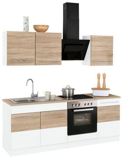 HELD MÖBEL Küchenzeile »Trient«, mit E-Geräten, Breite 210 cm