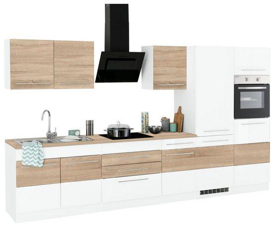 HELD MÖBEL Küchenzeile »Trient«, mit E-Geräten, Breite 350 cm