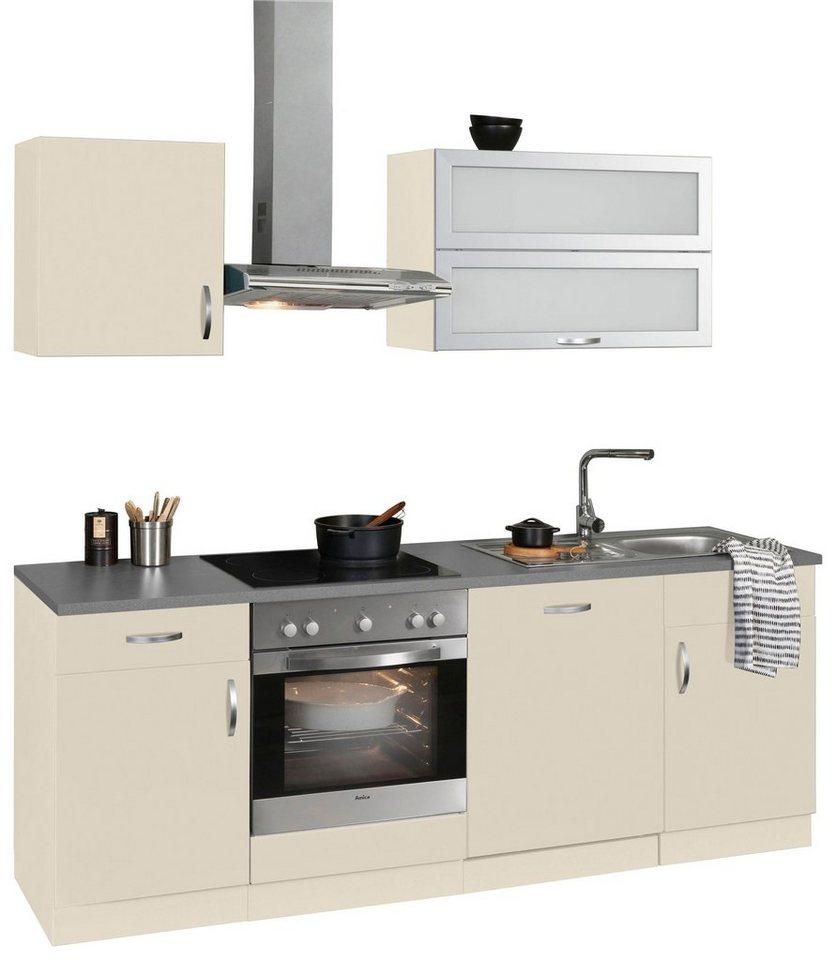 WIHO Küchen Küchenzeile mit E-Geräten »Amrum«, Breite 220 cm online ...