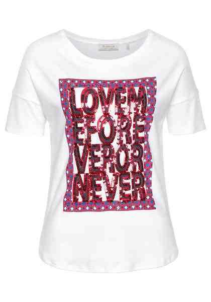 Rich & Royal T-Shirt Paillettenschriftzug