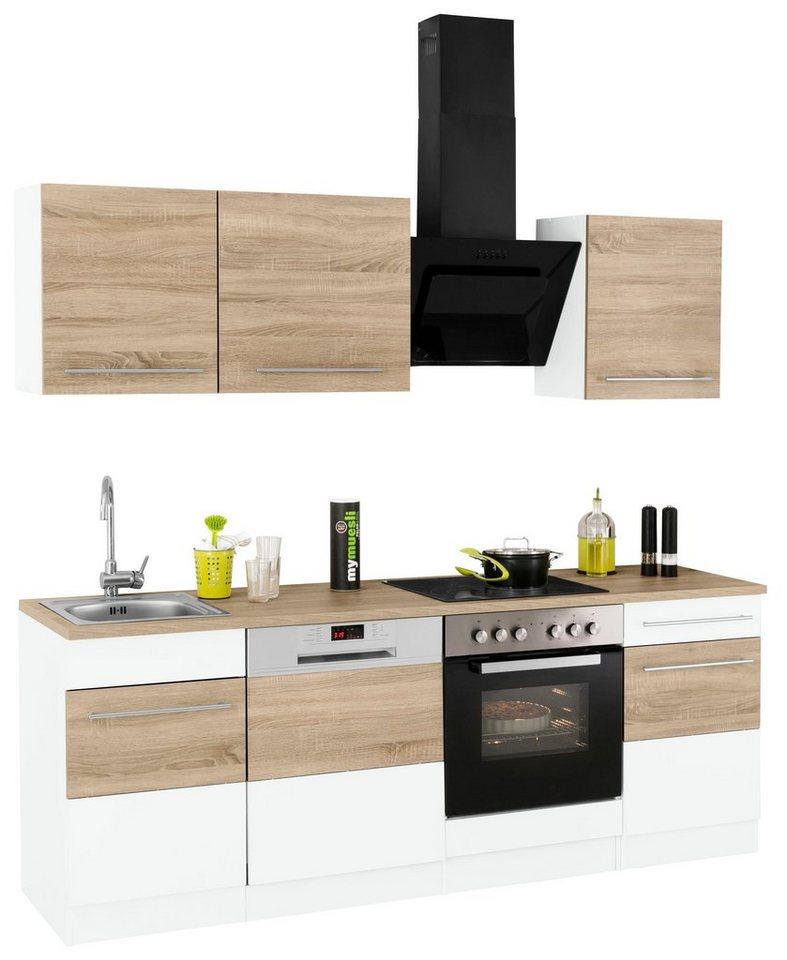 HELD MÖBEL Küchenzeile Mit E-Geräten »Trient«, Breite 220