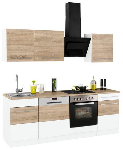 HELD MÖBEL Küchenzeile »Trient«, mit E-Geräten, Breite 220 cm