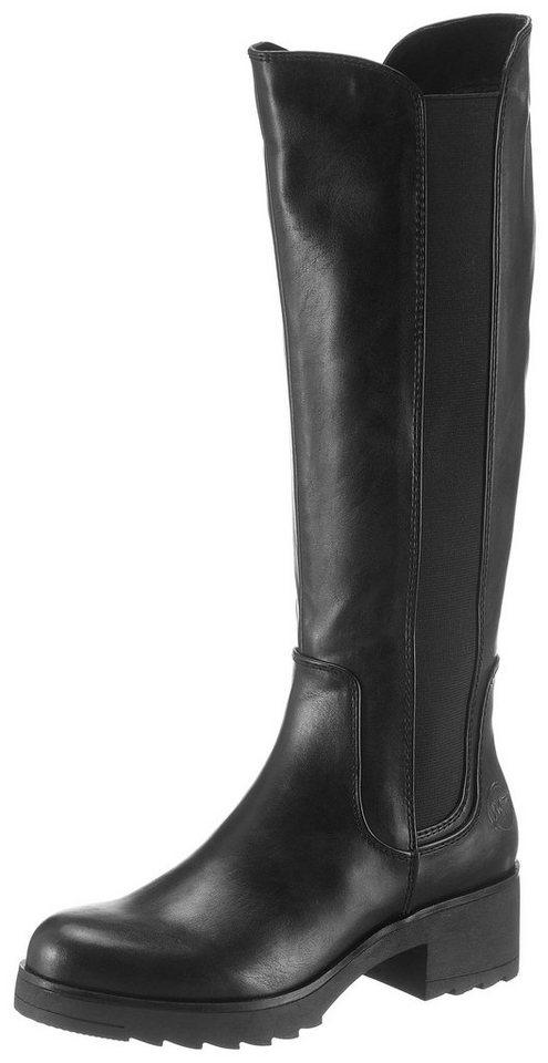 d9a27464d85b Marco Tozzi Stiefel mit breitem Stretcheinsatz, Obermaterial aus softem  Lederimitat online kaufen | OTTO