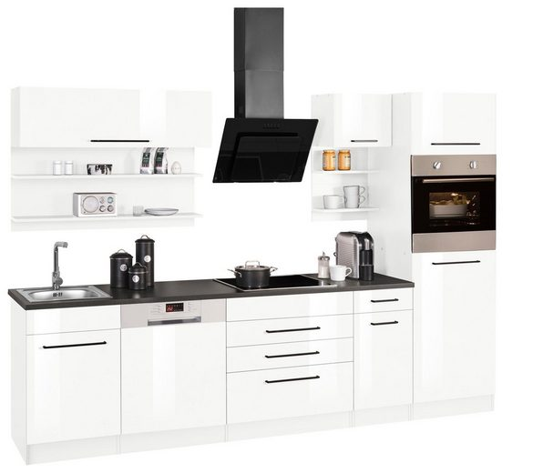 HELD MÖBEL Küchenzeile »Tulsa«, mit E-Geräten, Breite 290 cm