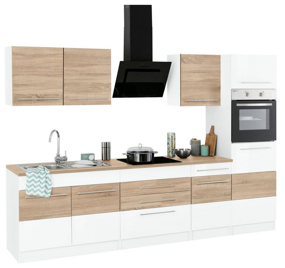 held m bel k chenzeile mit e ger ten trient breite 290 cm online kaufen otto. Black Bedroom Furniture Sets. Home Design Ideas