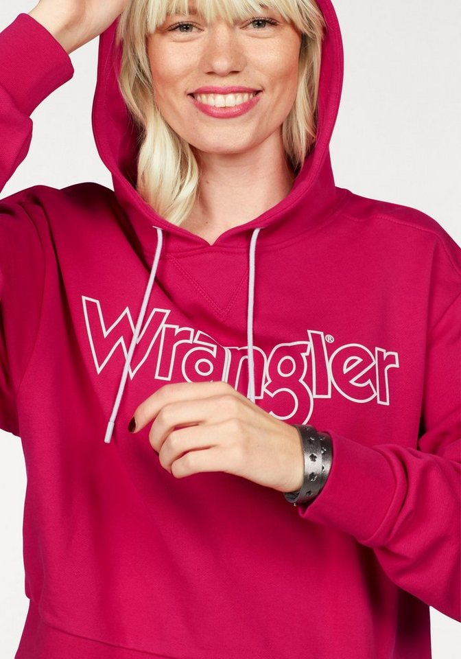 Wrangler Hoodie mit Logo Print