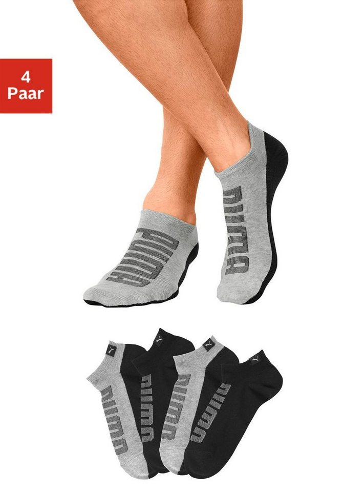 puma sneakersocken mit gro em logo auf dem spann otto. Black Bedroom Furniture Sets. Home Design Ideas