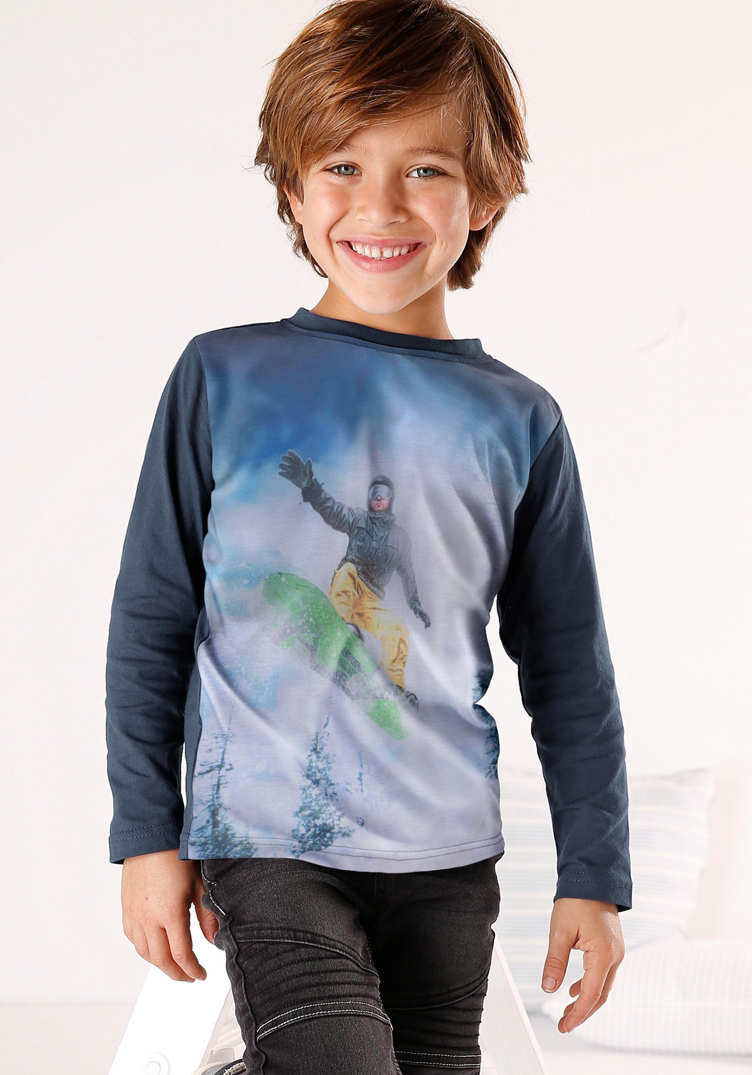 KIDSWORLD Langarmshirt »Snowboarder« Fotodruck