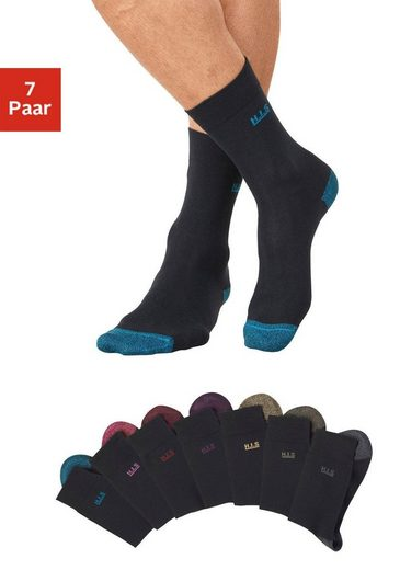 H.I.S Socken (7-Paar) mit farbiger Spitze und Ferse