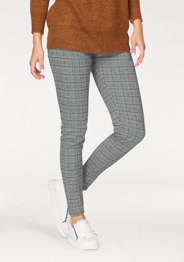 b.young Jeggings im modischen Karo-Look