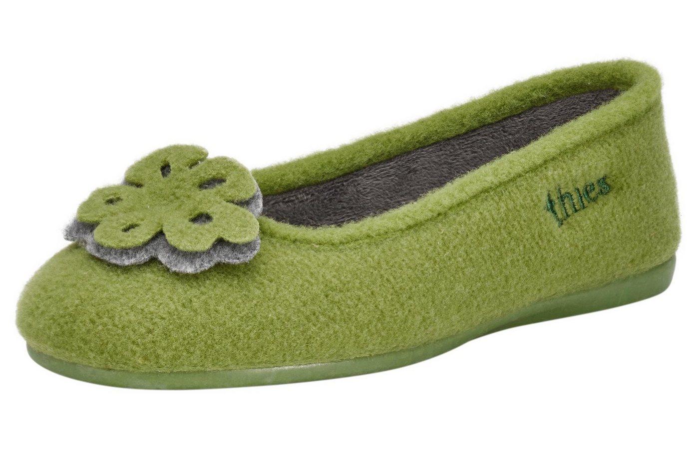 thies Hausschuhe mit Warmfutter | Schuhe > Hausschuhe | Grün | thies
