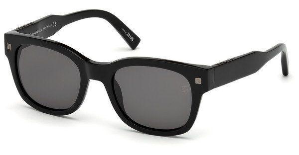 Ermenegildo Zegna Herren Sonnenbrille » EZ0087«, braun, 47N - braun/grün