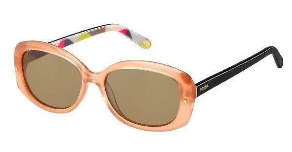 Fossil Damen Sonnenbrille » FOS 2026/S«, rosa, MAL/6J - rosa/braun