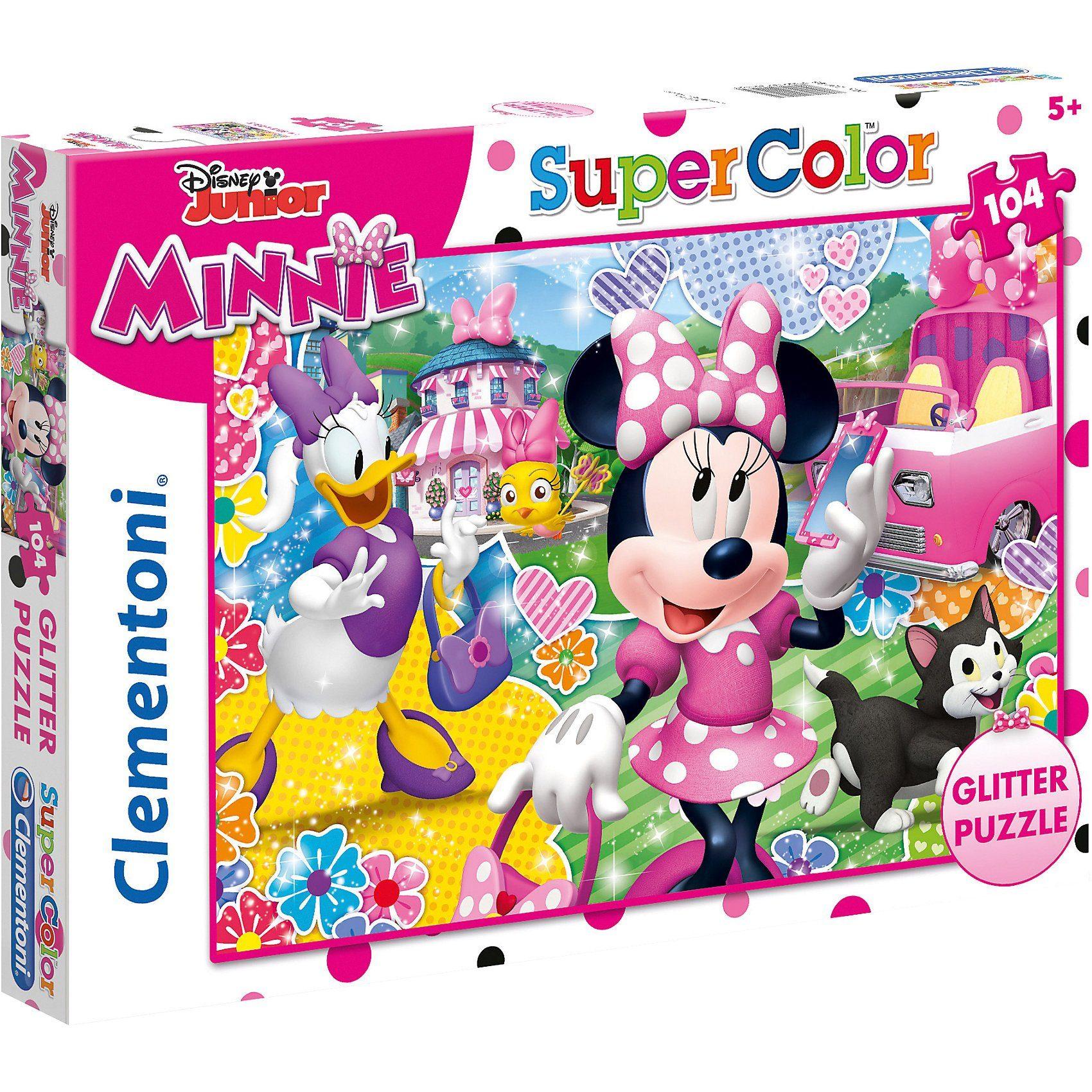 Clementoni® Glitterpuzzle 104 Teile - Minnie Mouse
