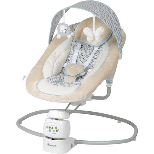 BabyGo Babywippe Snuggly inkl. Adapter, beige