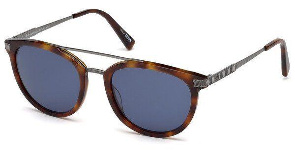 Ermenegildo Zegna Herren Sonnenbrille » EZ0077«, braun, 52V - braun/blau