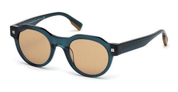 Ermenegildo Zegna Herren Sonnenbrille » EZ0102«, braun, 52X - braun/blau