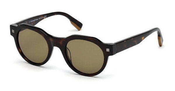 Ermenegildo Zegna Herren Sonnenbrille » EZ0102«, braun, 52J - braun/braun