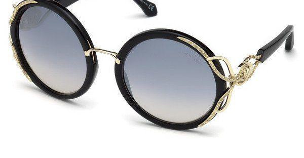 roberto cavalli Roberto Cavalli Damen Sonnenbrille » RC1076«, schwarz, 01C - schwarz/grau