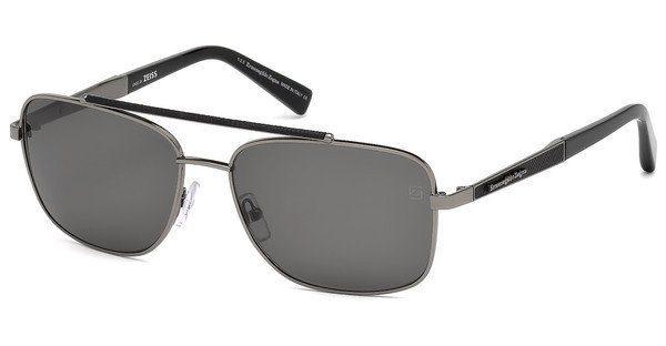 Ermenegildo Zegna Herren Sonnenbrille » EZ0036«, grau, 12C - grau/grau