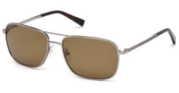 Ermenegildo Zegna Herren Sonnenbrille » EZ0079«, grau, 14J - grau/braun