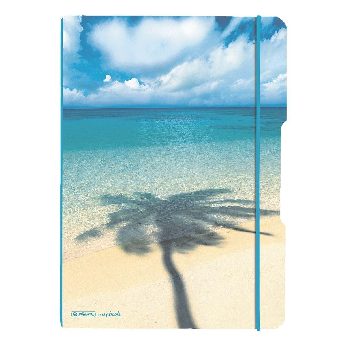 Notizheft my.book flex A4 kariert und liniert - 2x 80 Seiten »Palme«
