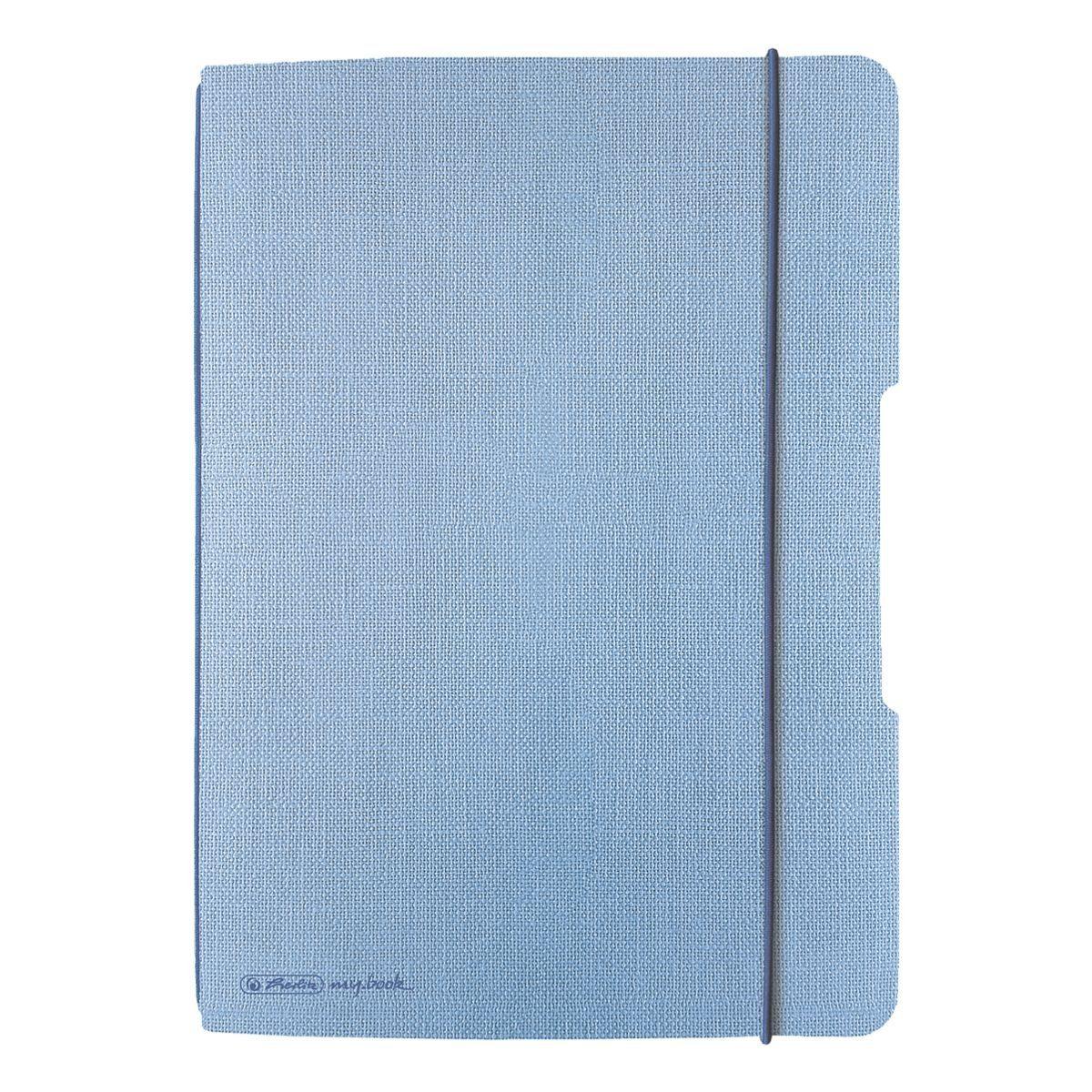 Notizheft my.book flex A5 kariert - 80 Seiten »Leinen«