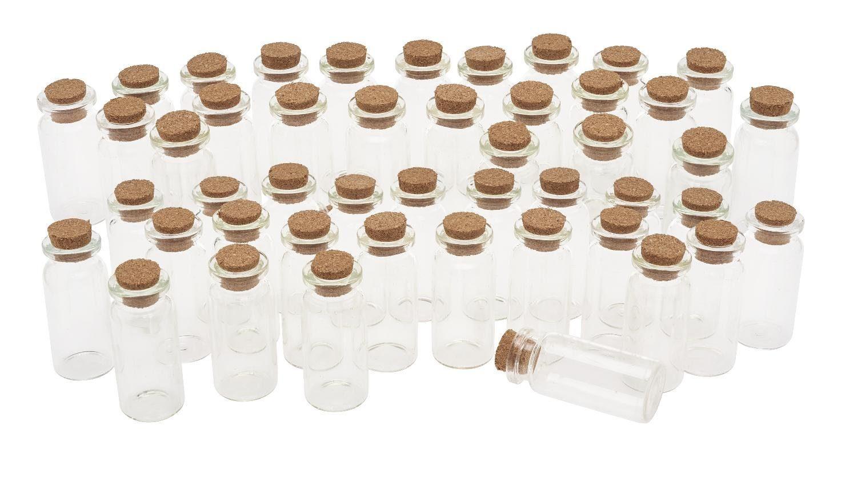 """VBS Glasfläschchen mit Korken """"10 ml"""" 48 Stück"""